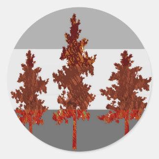 Ayuda ahorrar los árboles - ambiente sano pegatinas redondas