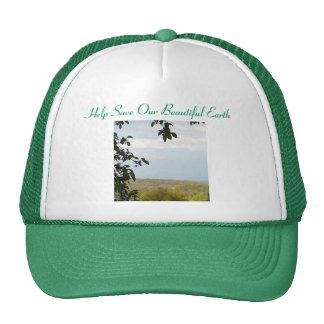 Ayuda ahorrar nuestra tierra hermosa gorros bordados