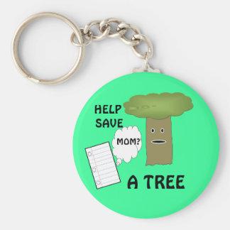 Ayuda ahorrar un llavero del árbol