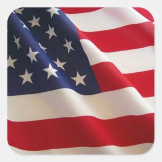 Ayuda América Calcomanía Cuadradas Personalizadas