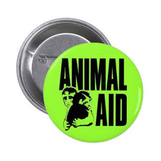 Ayuda animal pin redondo de 2 pulgadas