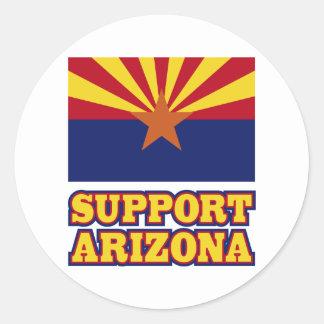 Ayuda Arizona Pegatina Redonda