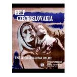 Ayuda Checoslovaquia Tarjetas Postales