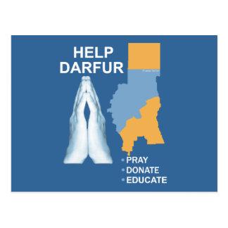 Ayuda Darfur Postales