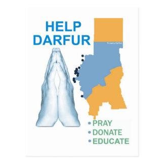 Ayuda Darfur Tarjetas Postales
