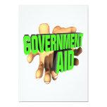 Ayuda de gobierno invitación 12,7 x 17,8 cm