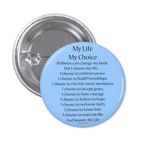 Ayuda de la conciencia de la diabetes mis botones  pins