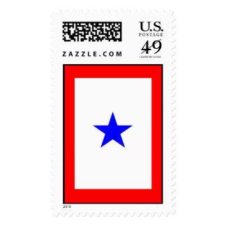Ayuda de la demostración de la bandera de la sellos postales
