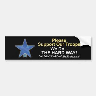 ayuda de la estrella azul pegatina de parachoque