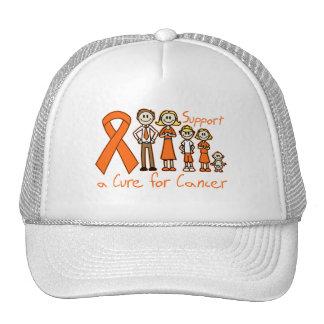 Ayuda de la familia de la leucemia una curación gorro de camionero