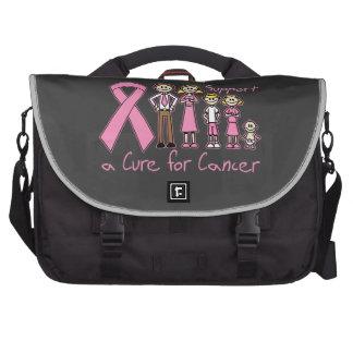 Ayuda de la familia del cáncer de pecho una curaci bolsas para portatil