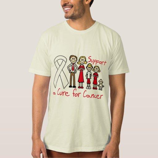 Ayuda de la familia del cáncer de pulmón una remera