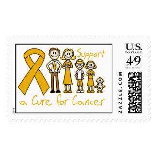 Ayuda de la familia del cáncer del apéndice una timbre postal