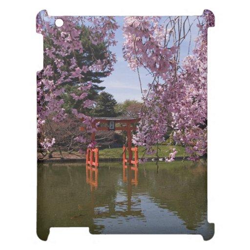 Ayuda de la flor de cerezo para la cubierta del iP