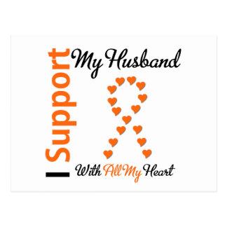 Ayuda de la leucemia I mi marido Postal