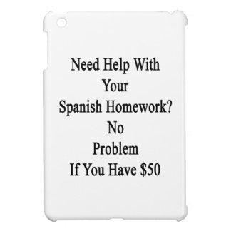 Ayuda de la necesidad con su preparación española
