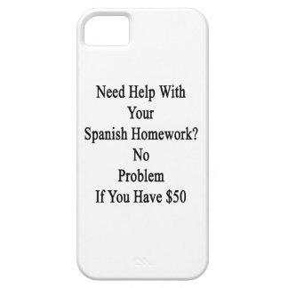 Ayuda de la necesidad con su preparación española funda para iPhone SE/5/5s