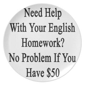 Ayuda de la necesidad con su preparación inglesa platos
