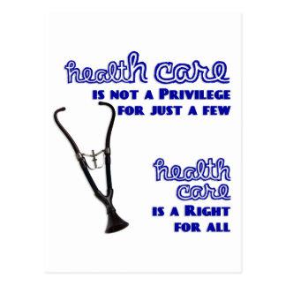 Ayuda de la reforma de la atención sanitaria de tarjetas postales