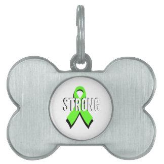 ayuda de la verde lima del linfoma no-Hodgkin Placa De Nombre De Mascota