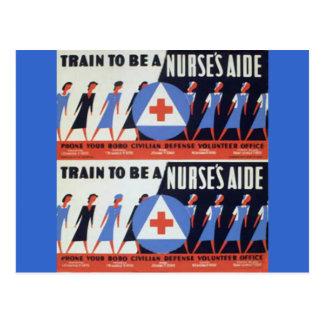 Ayuda de las enfermeras postal