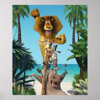 Ayuda de los amigos de Madagascar Posters