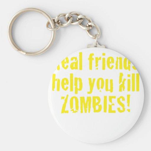 Ayuda de los amigos reales usted mata a zombis llaveros