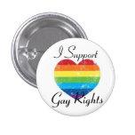 ayuda de los derechos de los homosexuales pin redondo 2,5 cm