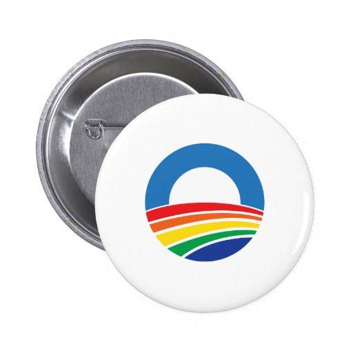 Ayuda de Obama 2012 para el matrimonio homosexual Pin