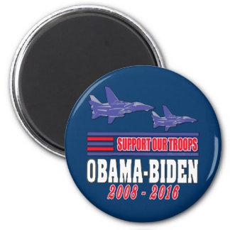 Ayuda de Obama Biden nuestras tropas Iman De Frigorífico