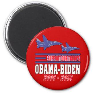 Ayuda de Obama Biden nuestras tropas Imanes De Nevera