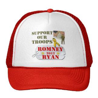 Ayuda de Romney Ryan nuestro gorra de las tropas