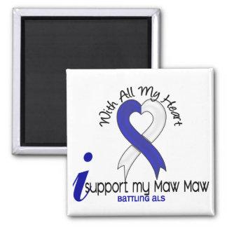 Ayuda del ALS I mi estómago del estómago Imán Cuadrado