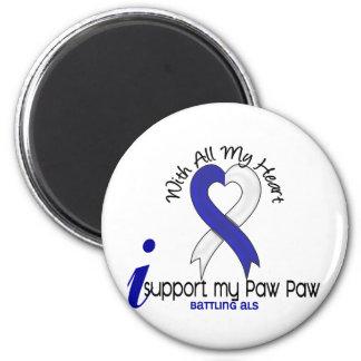 Ayuda del ALS I mi pata de la pata Imán Redondo 5 Cm
