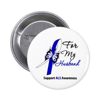 Ayuda del ALS para mi marido Pin Redondo De 2 Pulgadas