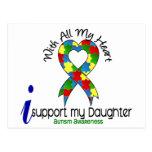 Ayuda del autismo I mi hija Postal