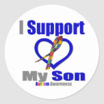 Ayuda del autismo I mi hijo Etiquetas Redondas