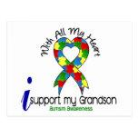 Ayuda del autismo I mi nieto Tarjeta Postal