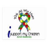Ayuda del autismo I mis niños Tarjeta Postal