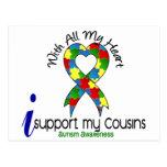 Ayuda del autismo I mis primos Tarjetas Postales