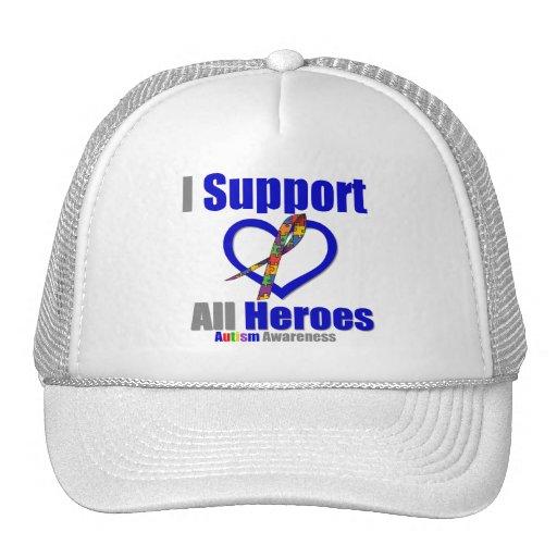 Ayuda del autismo I todos los héroes Gorros Bordados