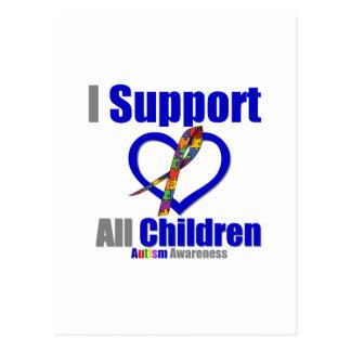 Ayuda del autismo I todos los niños Tarjetas Postales