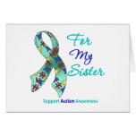 Ayuda del autismo para mi hermana tarjeta