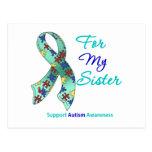 Ayuda del autismo para mi hermana tarjeta postal