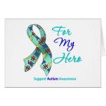 Ayuda del autismo para mi héroe tarjetas