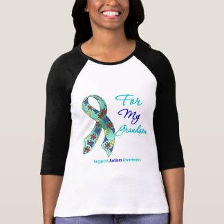 Ayuda del autismo para mi nieto camiseta