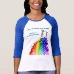 Ayuda del autismo que sube las nuevas alturas muje camiseta