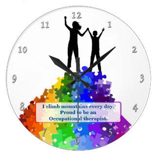 Ayuda del autismo que sube nuevas alturas reloj redondo grande