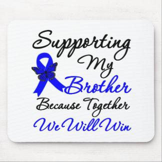 Ayuda del cáncer de colon (Brother) Tapetes De Raton