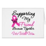 Ayuda del cáncer de pecho (amigo) felicitación